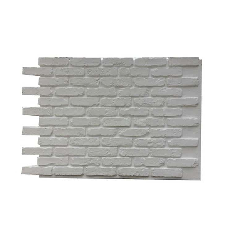 White Faux Brick Panel