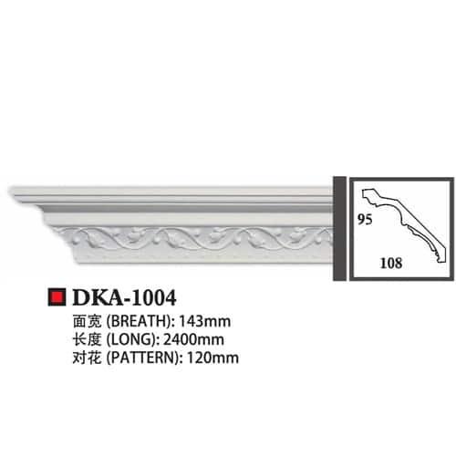 Polyurethane cornice DKA1004