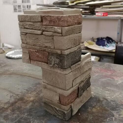 PU stacked Stone Panel corner