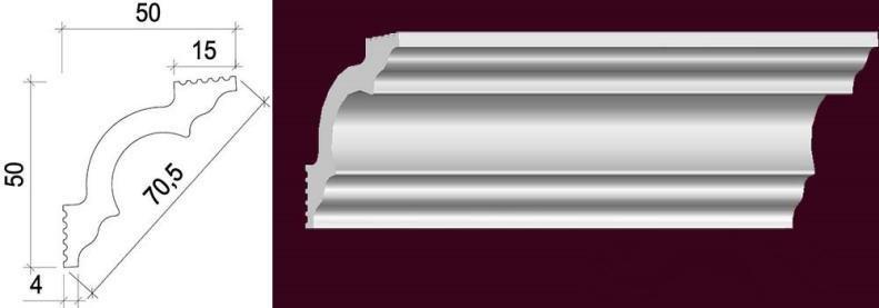 Polystyrene Cornice YG0270