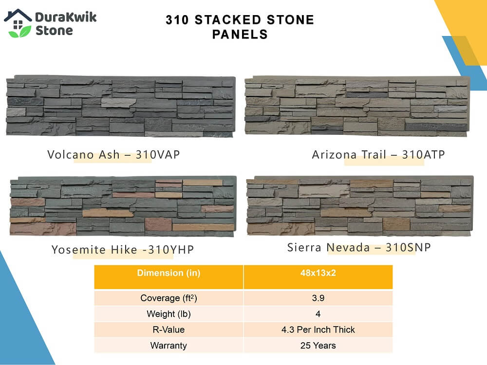 Durakwik Stone Panels 310 Stacked Stone Panels