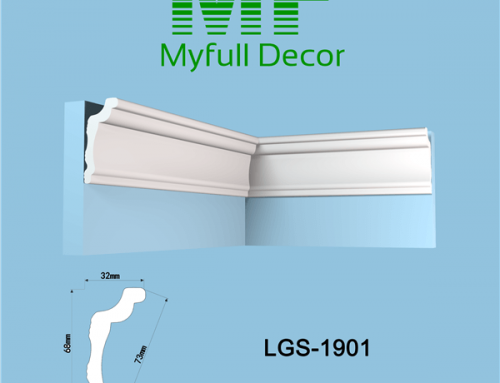 XPS Polystyrene Coving Cornice LGS-1901 L 200 x H 6.8 x W 3.2 cm