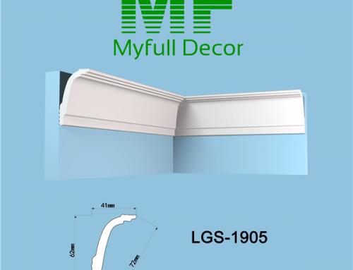 XPS Polystyrene Molding LGS1905 L 200 x W 4.1 x H 6.2 cm