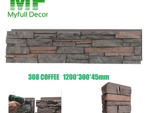 Ledge Stone Siding 48″ x 12″ Tall Coffee Color