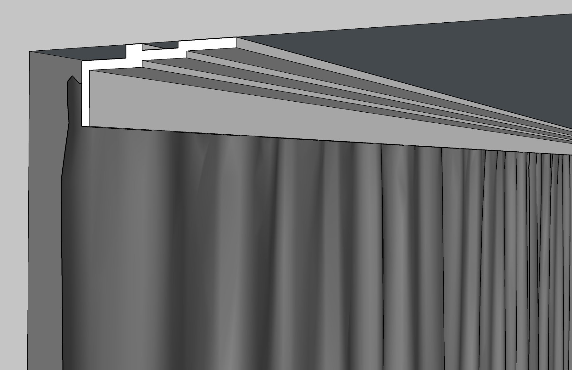curtain molding 3060-1