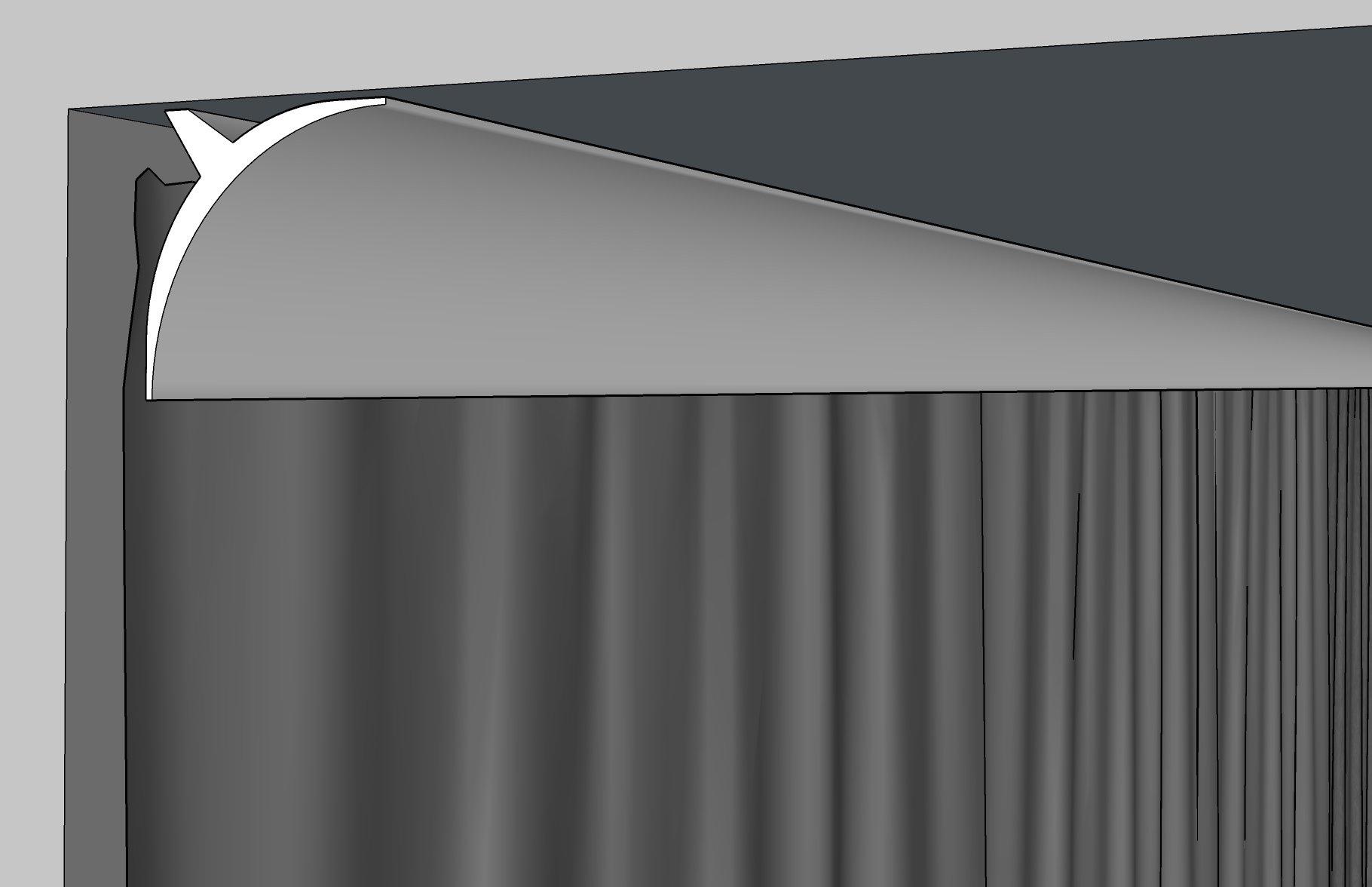 curtain molding 3061