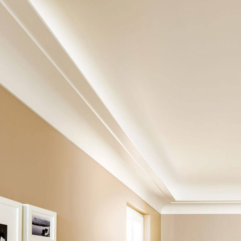 3063 step cove indirect lighting molding application